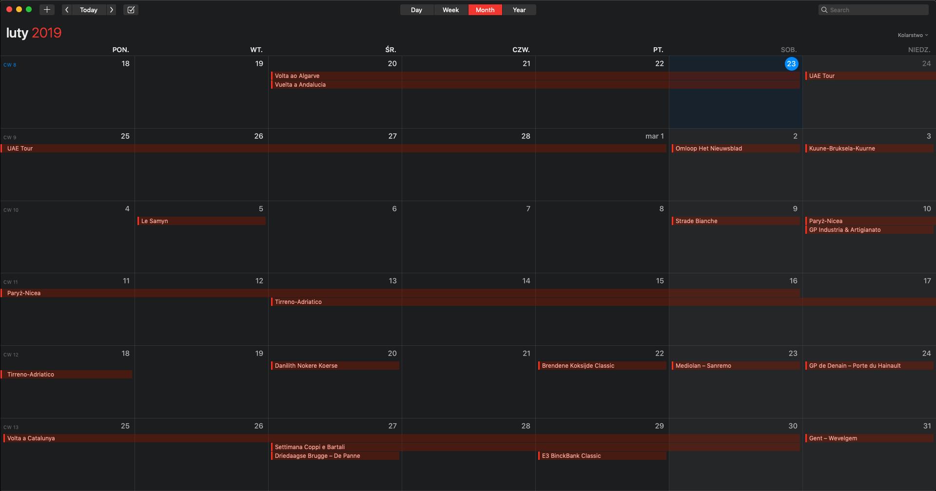 fullscreen kalendarz kolarski 2019